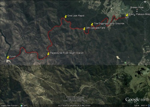 Google map of trip