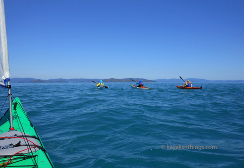 Paddling across the Whitsunday Passage