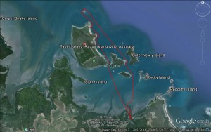 Sea kayak paddle to Rabbit Island